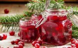 Джем из клюквы: рецепты на зиму