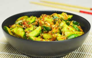 Огурцы, жареные по-корейски: самые вкусные рецепты салатов