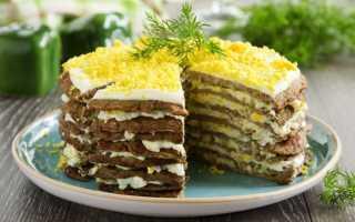Печеночный торт из свиной печени: рецепты приготовления с морковью, с молоком, калорийность
