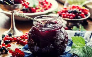 Варенье из черной и красной смородины: рецепты ассорти