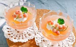 Желе из белой смородины на зиму: без варки, с лимоном, мятой, желатином