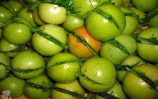 Как засолить зеленые помидоры в кастрюле