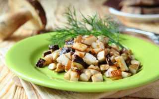 Белые грибы, жаренные с луком: как пожарить, рецепты, калорийность