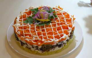 Салат Лисья шубка: рецепты с грибами, красной рыбой, семгой, сельдью