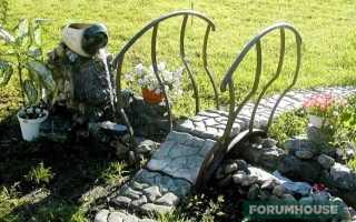 Мостики: самостоятельное возведение перехода на садовом участке