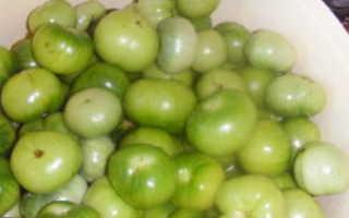 Малосольные зеленые помидоры