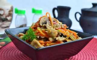 Шампиньоны по-корейски: как сделать с морковью, кунжутом, острым перцем и в банках на зиму