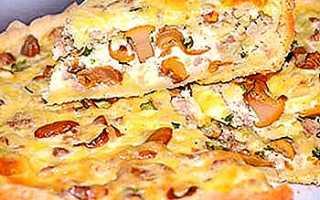 Пирог с лисичками: пошаговые рецепты из слоеного и песочного теста, фото