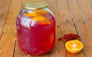 Компот из красной (черной) смородины с апельсином: пошаговые рецепты с фото