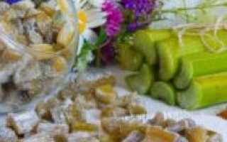 Цукаты из ревеня: рецепты с фото в духовке, в электросушилке