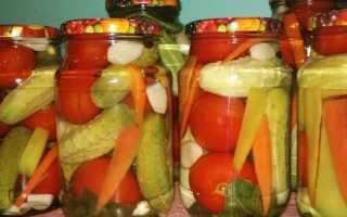 Ассорти из огурцов и помидоров на зиму: рецепты в банках, с лимонной кислотой, без стерилизации
