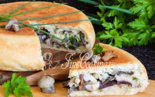 Пирог с опятами: рецепты с фото, с маринованными грибами, с картошкой, заливной, в мультиварке