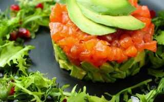 Тартар из лосося и авокадо: рецепты с каперсами,