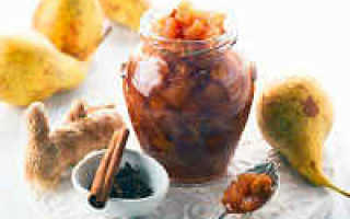 Варенье из груш с лимоном на зиму: рецепты с корицей, пятиминутка