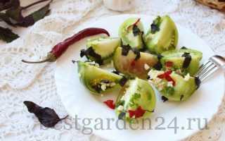 Рецепт зеленых помидоров без уксуса