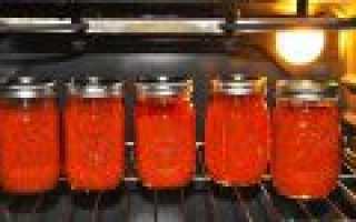 Стерилизация в духовке заготовок
