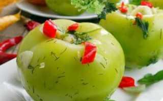 Зеленые помидоры в ведре – рецепт
