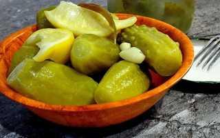 Огурцы по-пражски на зиму с лимоном