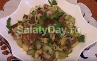 Салат с солеными груздями: вкусные рецепты с фото пошагово, с курицей, слоеный, видео