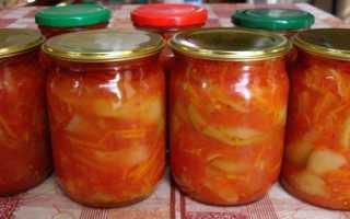Лечо из кабачков с томатной пастой