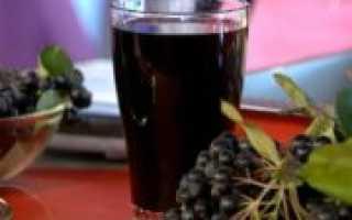 Сироп из черноплодной рябины: рецепты на зиму с вишневыми листьями, лимонной кислотой