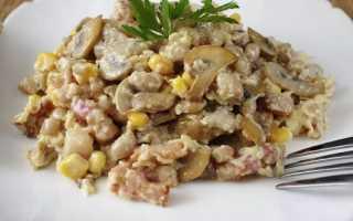 Салат с белыми грибами: рецепты с курицей, фетой, мясом, капустой