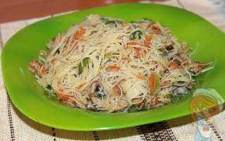 Фунчоза с грибами шиитаке: рецепты рисовой лапши, подготовка грибов, калорийность