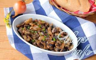 Жареные шампиньоны с луком: рецепты приготовления с фото