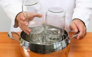 Стерилизация банок на пару: сколько минут