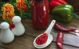 Рецепты аджики без помидоров