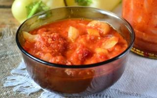 Лечо с томатной пастой: рецепт