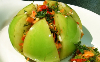 Маринованные острые зеленые помидоры
