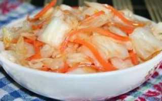 Маринованная капуста кусочками быстрого приготовления: рецепт
