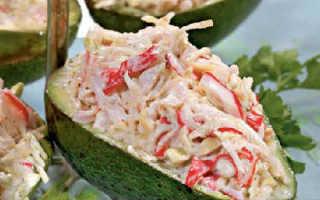 Салат с крабовым мясом и авокадо: рецепты приготовления с яйцами, огурцами