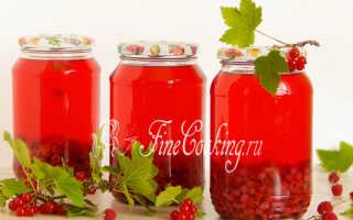 Компот из красной (черной) смородины и малины: пошаговые рецепты с фото