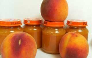 Пюре из персиков на зиму: простые рецепты, для грудничка, без стерилизации, без сахара, с яблоками