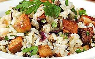 Рис с белыми грибами: вкусные рецепты приготовления с фото