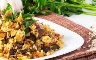 Плов с грибами шампиньонами: с курицей, морковью и постный, пошаговые рецепты с фото